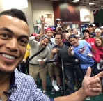 Giancarlo Stanton and Me and a bunch of other random people