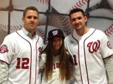My sister with Tyler Moore and Ryan Zimmerman